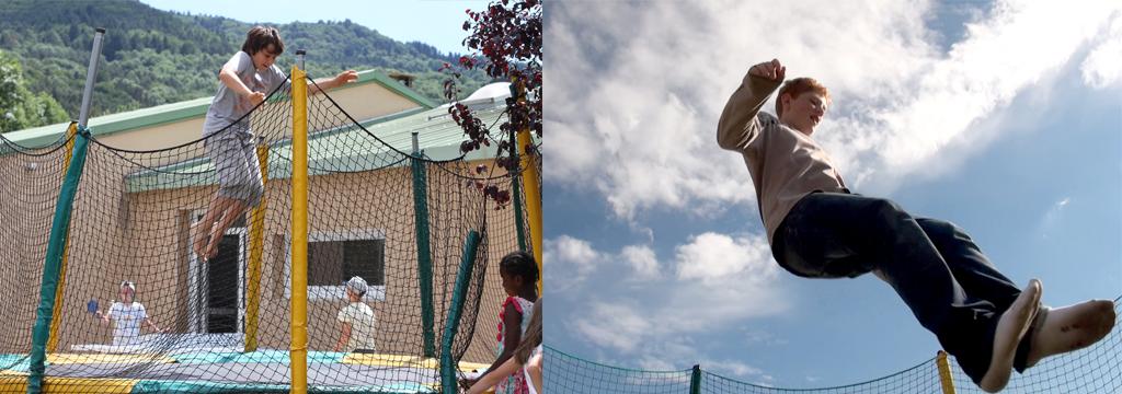 Trampoline au centre du Cros à Retournac